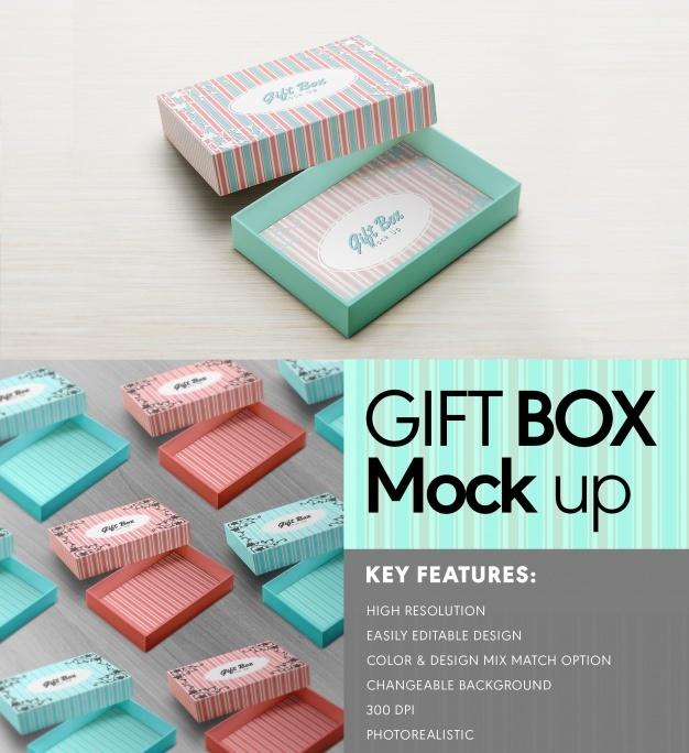 Gift box mock up