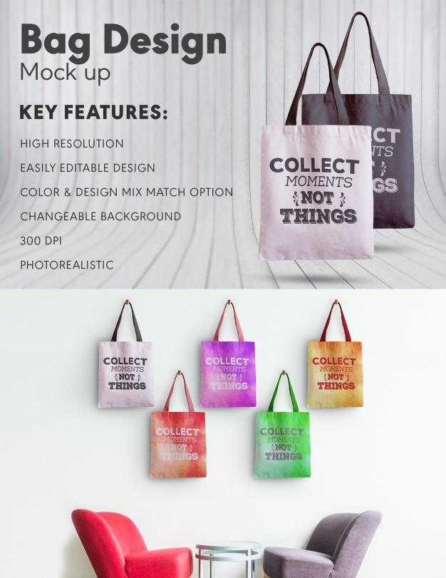 Bag design mock up