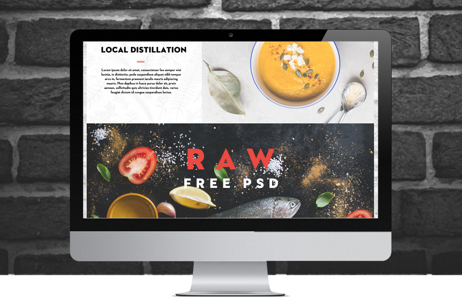 Raw Free One Page PSD Template