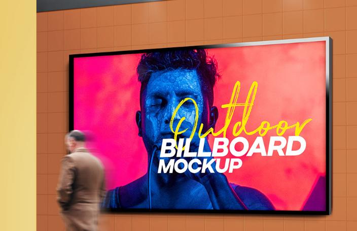 Outdoor Billboard Mockup PSD