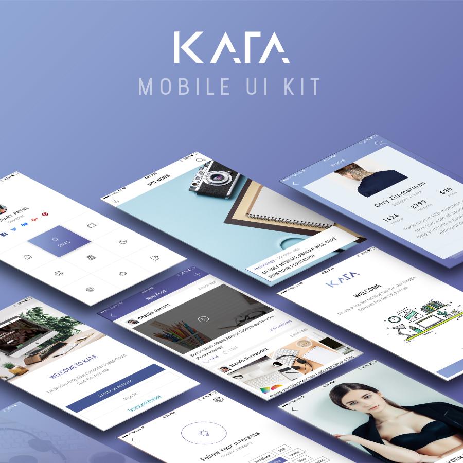 Kata Mobile UI Kit Free Demo