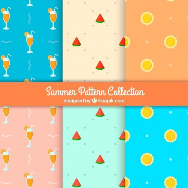 Variety of flat summer patterns