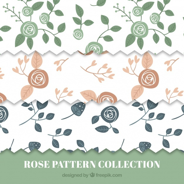 Pack of vintage roses patterns