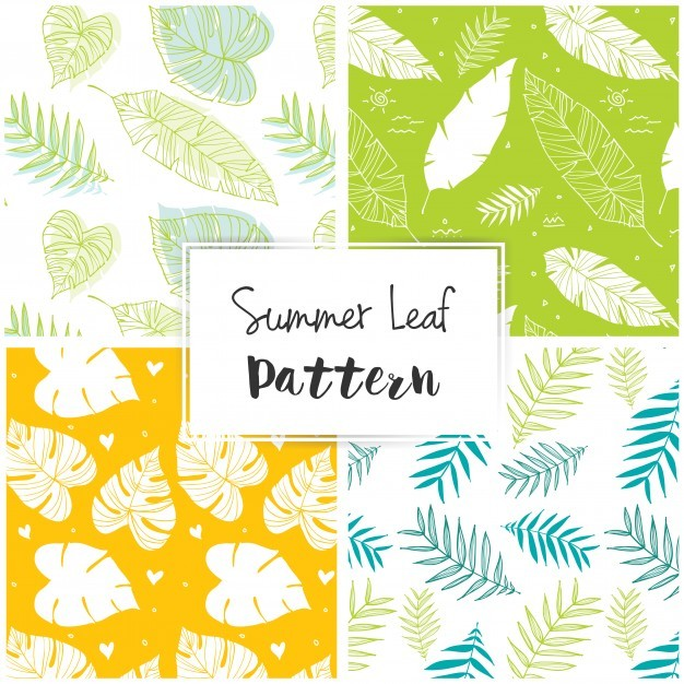 Summer leaf pattern