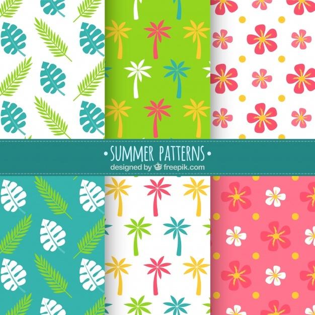 Variety of decorative summer patterns