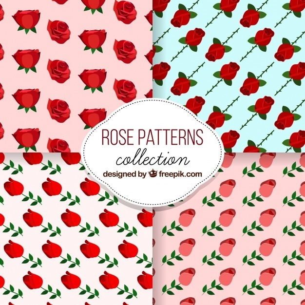 Decorative patterns of roses