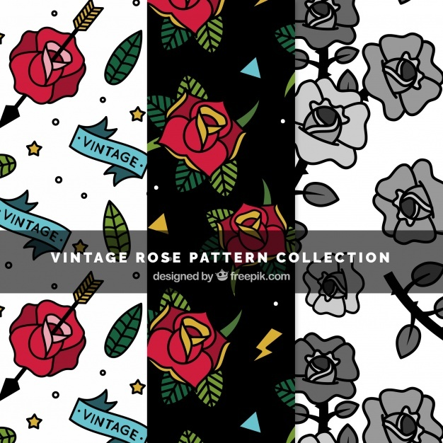 Floral patterns in vintage style