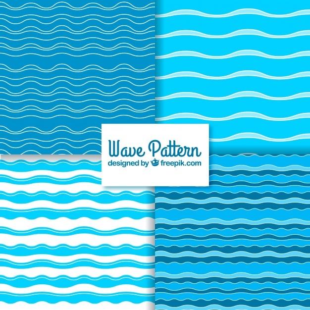 Variety of wave patterns in minimalist design