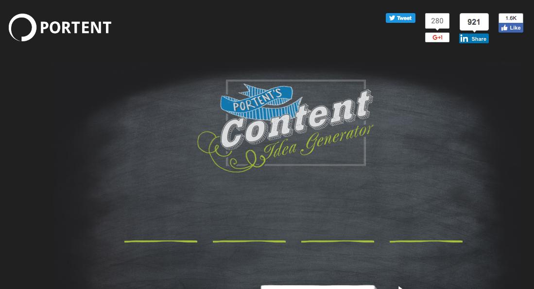 Contents Idea Generator