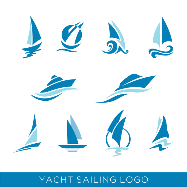 Free AI file yacht sailing logos vector download