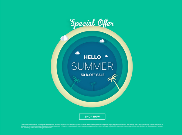 Free EPS file special offer summer sale background vector 08 download