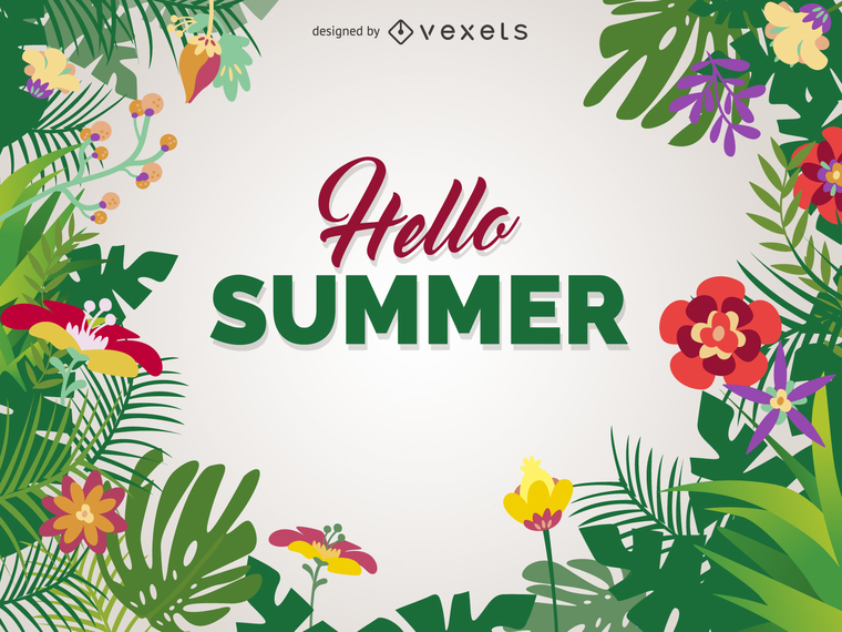 HELLO SUMMER POSTER DESIGN