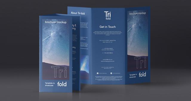 PSDTri Fold Mockup US A4 Vol4