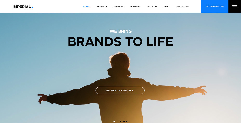 Imperial: PSDWebsite Template