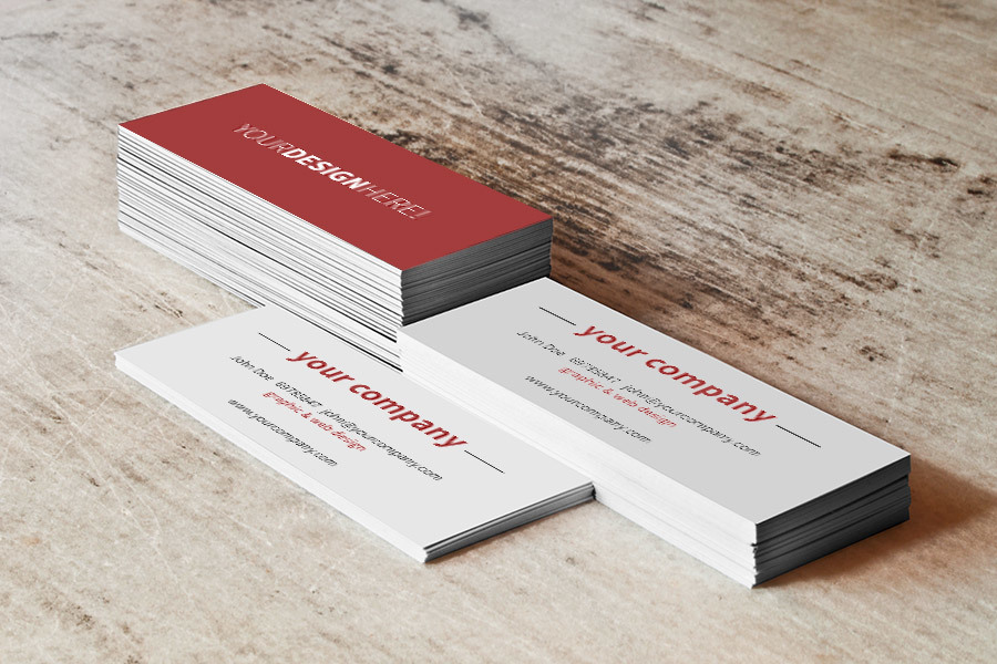 Business Card Stack Free Mockup