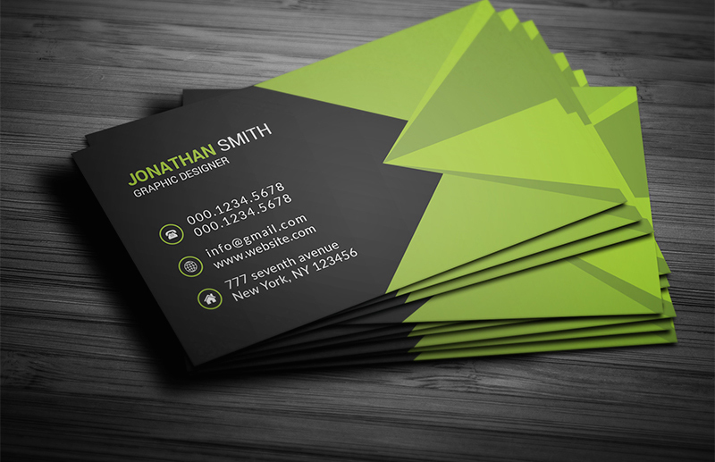 3 different colors of corporate business card free download