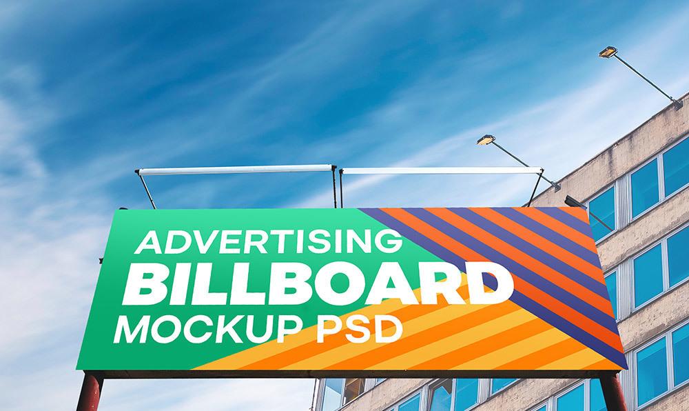 Outdoor Advertising Billboard PSDMockup