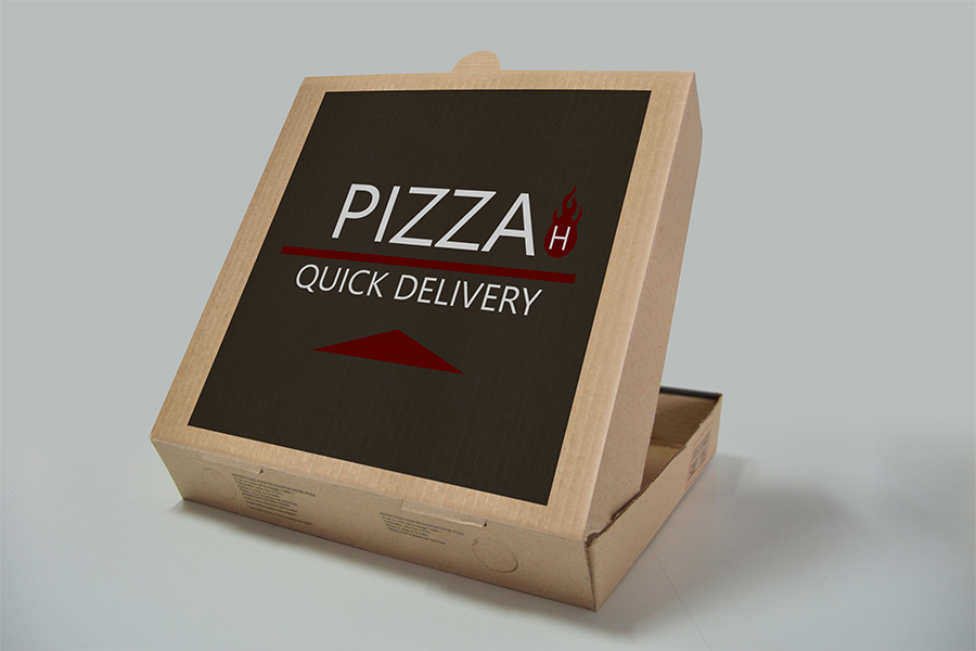 Pizza Box Free PSDMockup