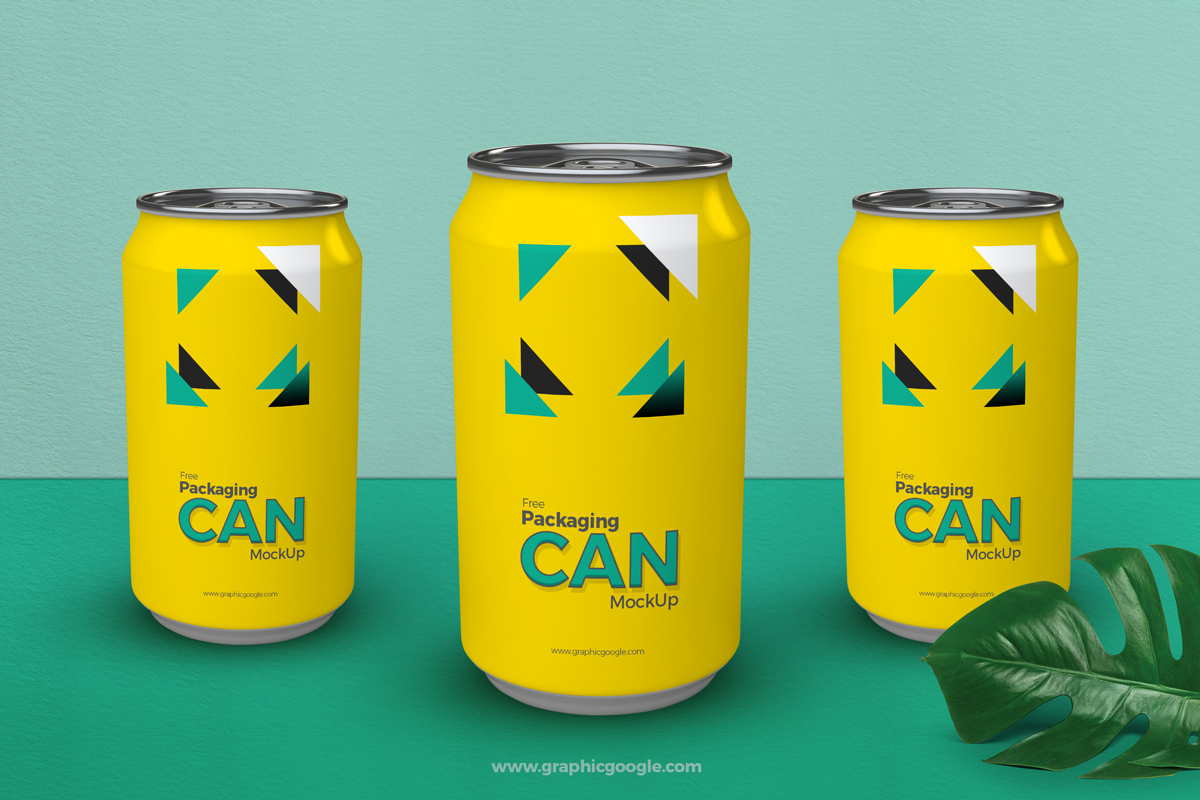 Free Packaging Can Mockup PSD