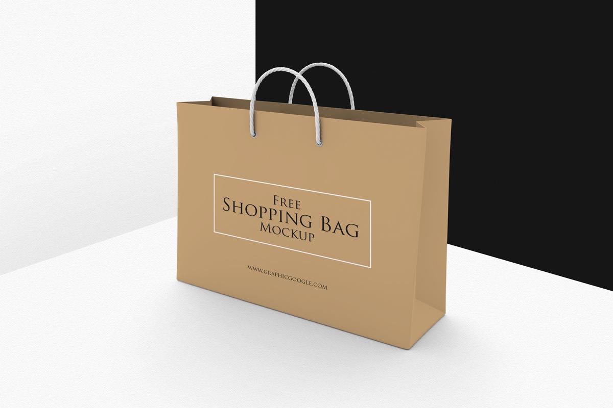Free Shopping Bag Mockup PSDTemplate