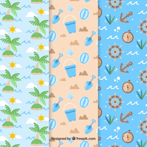 Decorative patterns of beach elements