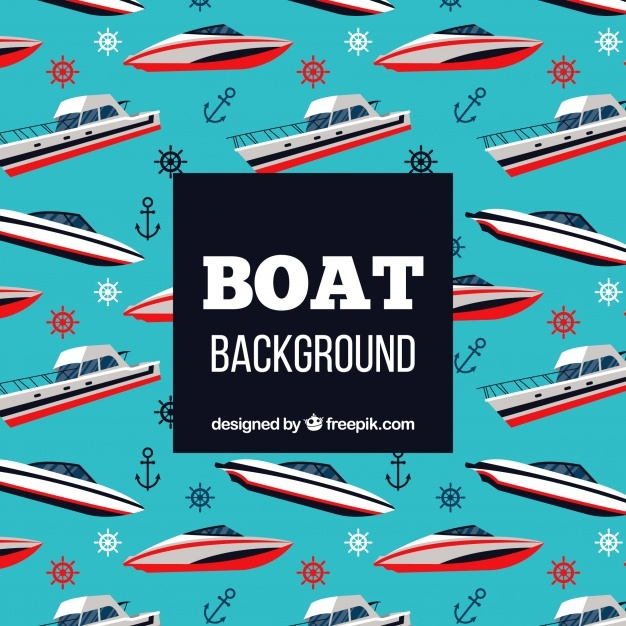 Boat pattern background