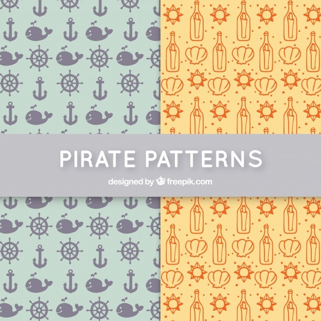 Cute pirate patterns