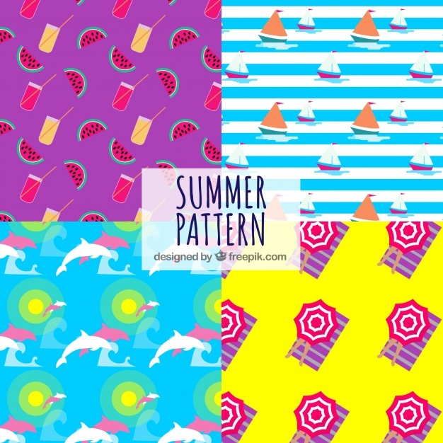 Summer elements pattern background