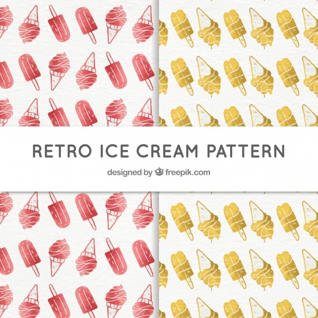 Vintage ice cream patterns