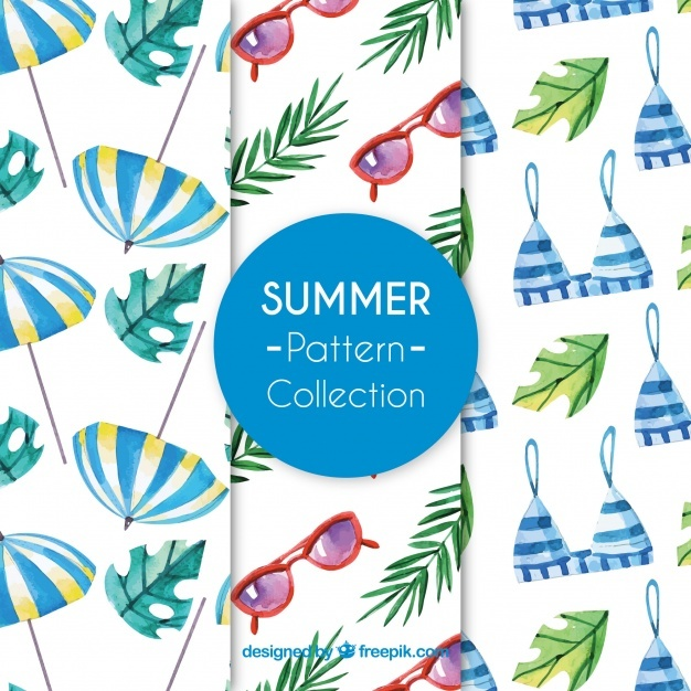 Summer elements pattern collection