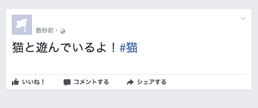 Facebook×ハッシュタグ
