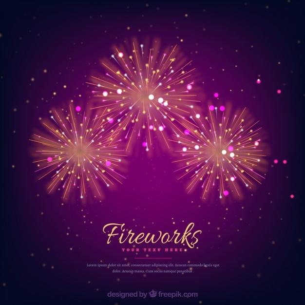 Elegant fireworks background