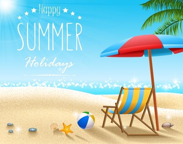 Free EPS file Summer holiday travel background design vectors download
