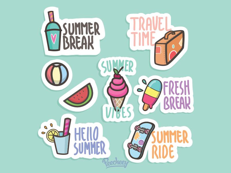 Summer Stickers again