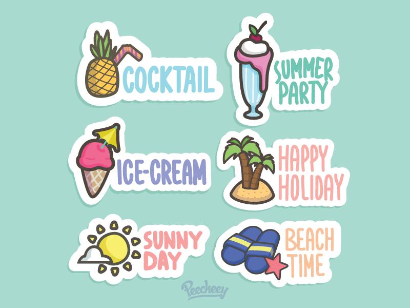 Peecheey Summer Stickers