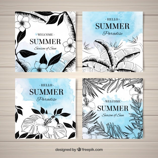 Cool tropical summer cards