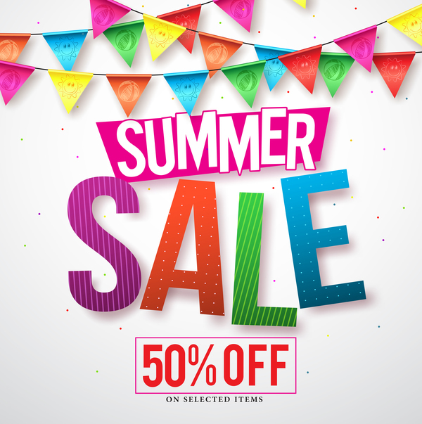 Free EPS file Summer sale discount backgrounds vector download