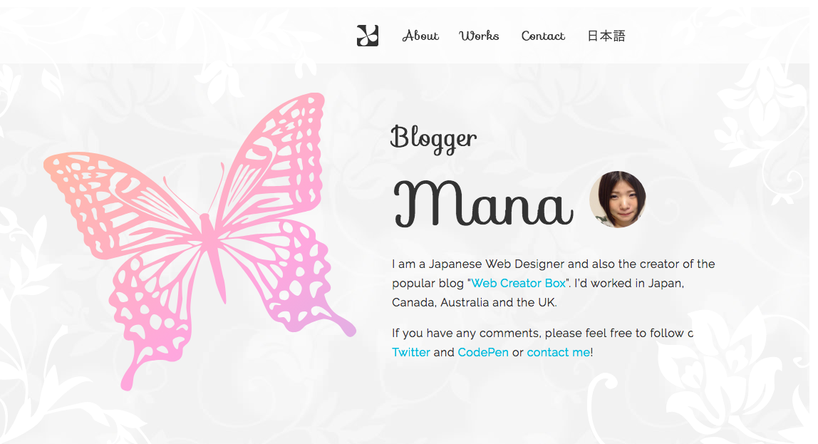 Mana's Portfolio Website