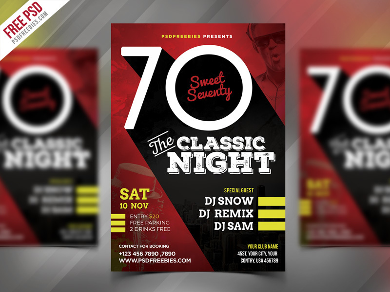 Classic Event Party Flyer PSD