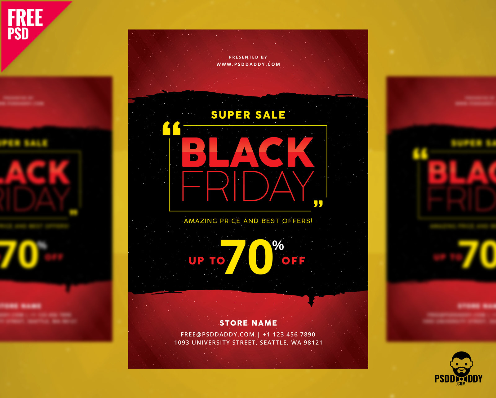 Black Friday Flyer Free PSD