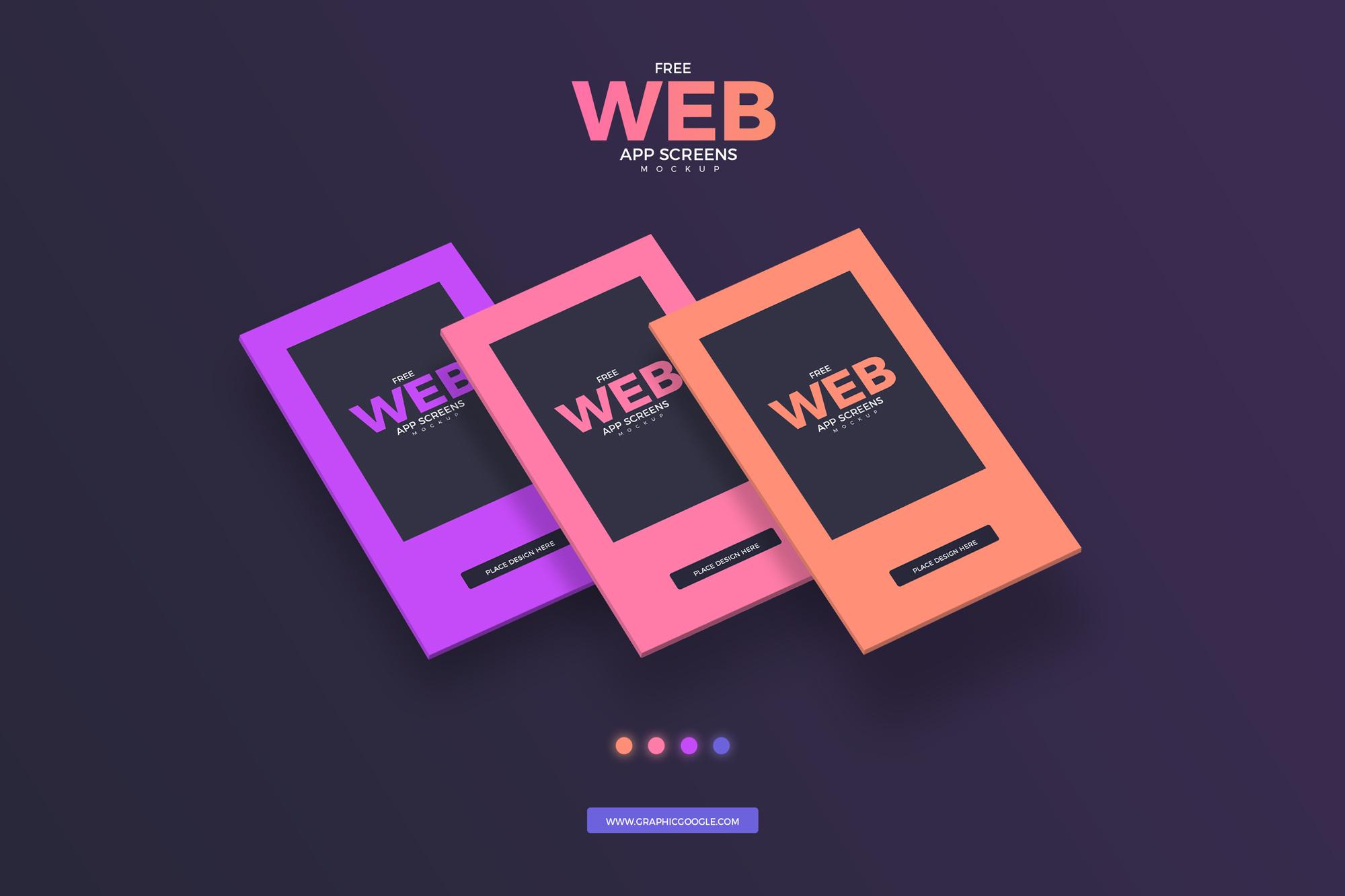 Free Web App Screens Mockup