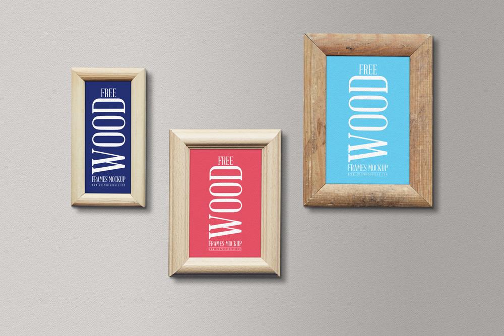 Free Wood Frames Mockup