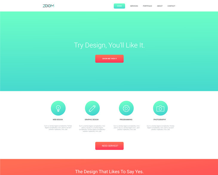 Zoom - Single Page Template
