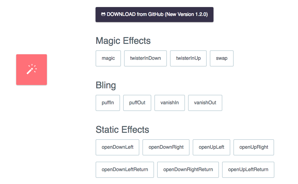 Magic Animations CSS3