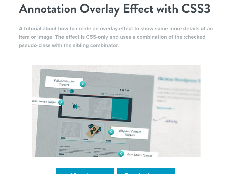 Annotation Overlay Effect with CSS3
