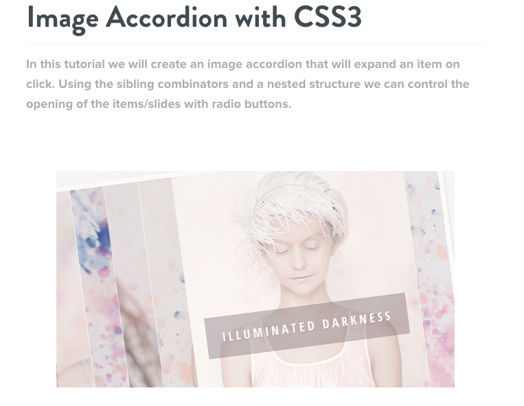 Image Accordion with CSS3