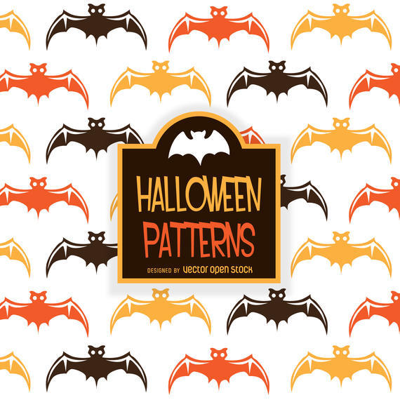 ILLUSTRATED HALLOWEEN BAT PATTERN