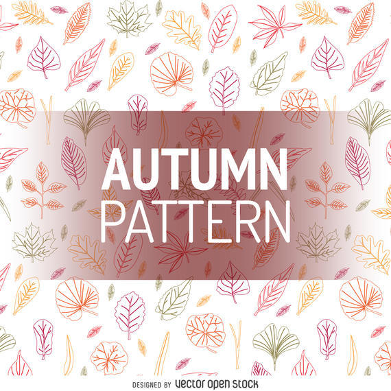 AUTUMN LEAVES OUTLINE PATTERN