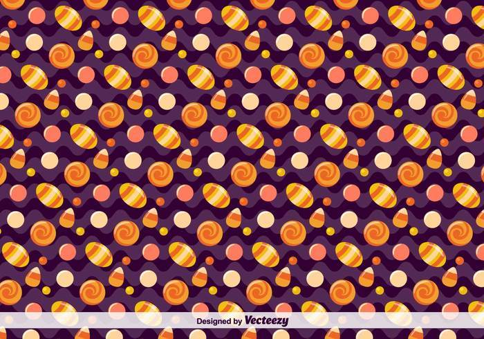 Vector Candy Pattern For Halloween