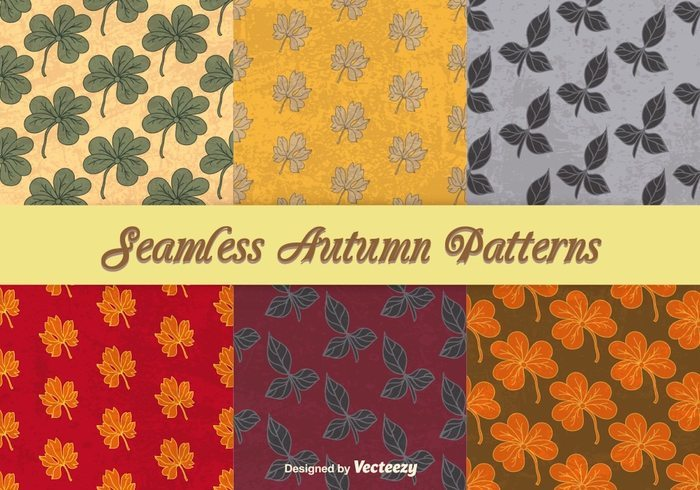 Autumnal seamless patterns